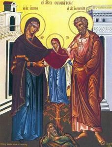 أيقونة القديسين يواكيم وحنة جديّ الرب