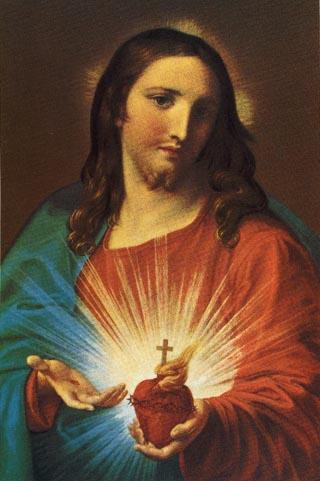 ايقونة قلب يسوع الأقدس٢