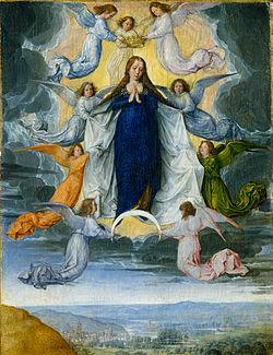 أيقونة إنتقال أمنا العذراء مريم إلى السماء