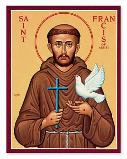 أيقونة القديس فرنسيس الأسيزي